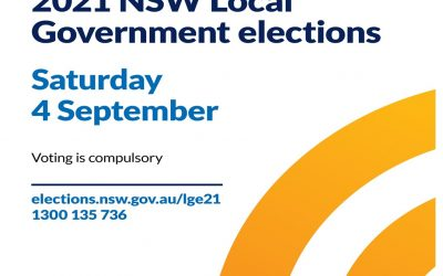 NSW Local Government Elections Saturday 4 September 2021